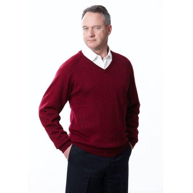 Ansett VNeck Wool Pullover