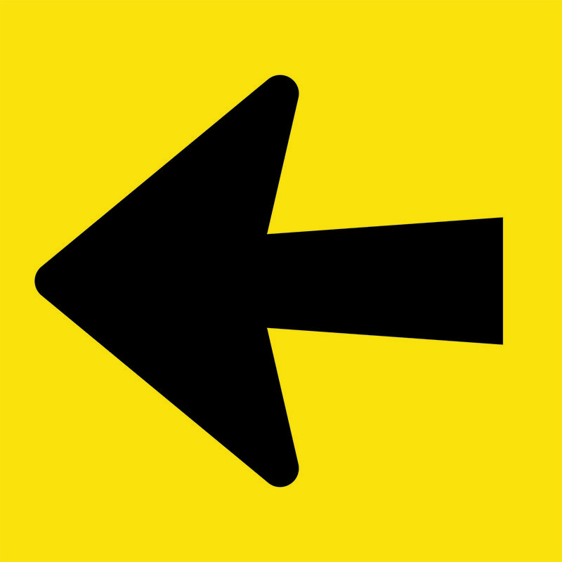 Black and Yellow Arrow Sign