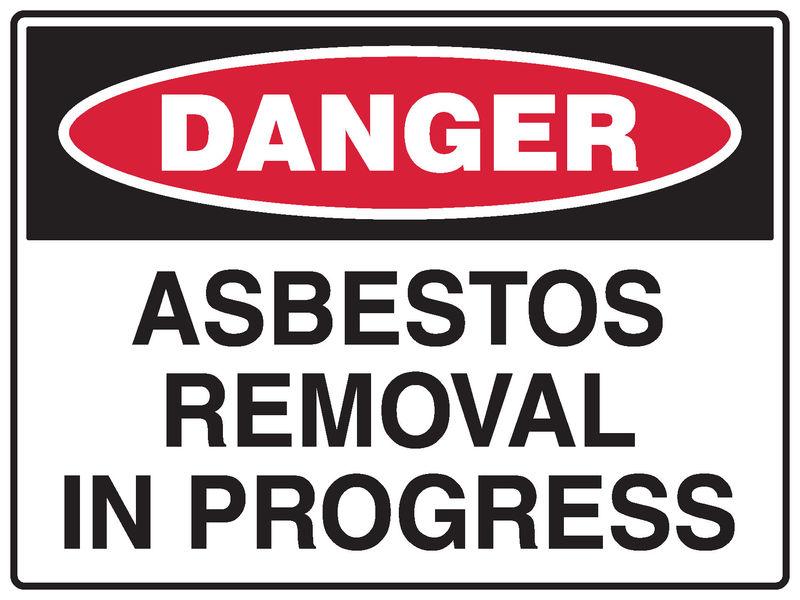 A danger Asbestos Sign