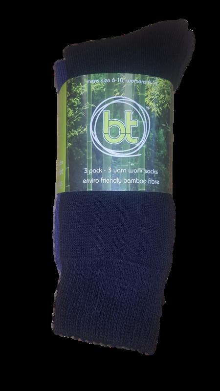 Bamboo Textiles 3 Yarn 3 Pack Work Socks