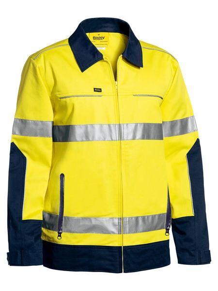 Bisley HiVis Cotton Drill Reflective Jacket