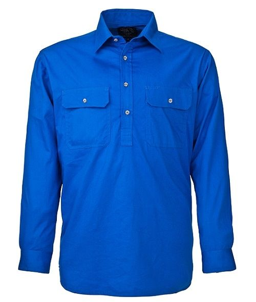 A blue Pilbara Work Shirt