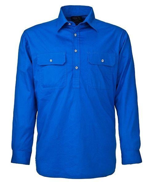 A blue Pilbara Work Shirt