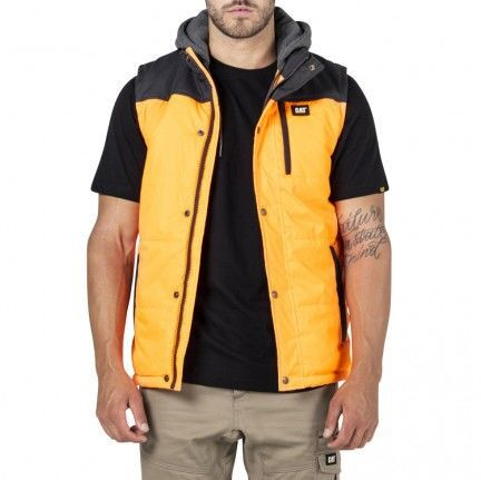CAT Hi Vis Hooded Work Vest