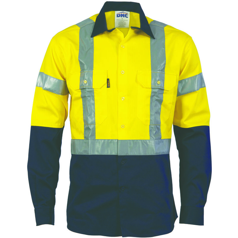 DNC HiVis LS Shirt with H Pattern Tape