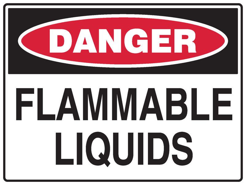 Flammable Liquids Sign