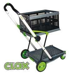 A Clax Folding Cart with the Clax logo