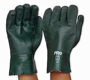 Green PVC Glove   Short