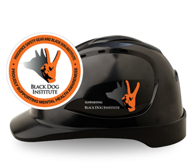 Hardhat Vented Pushlock Harness V9   Black Dog