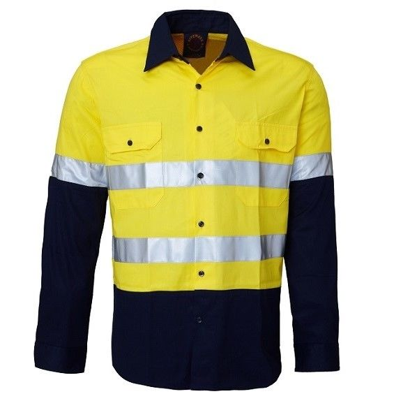 Hi Vis Vented Open Front LW LS Ref Shirt