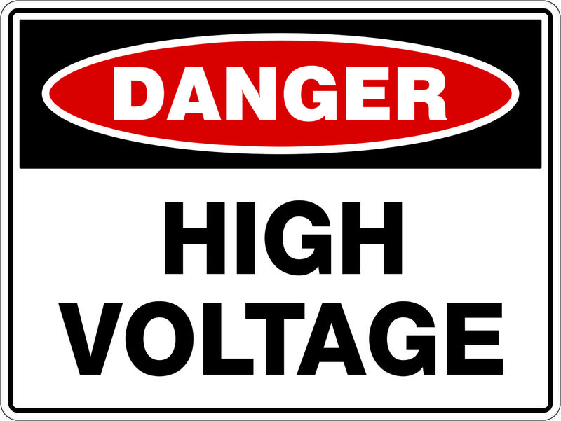 A High Voltage Sign that states 'Danger: High Voltage'