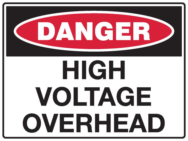 A danger High Voltage Sign