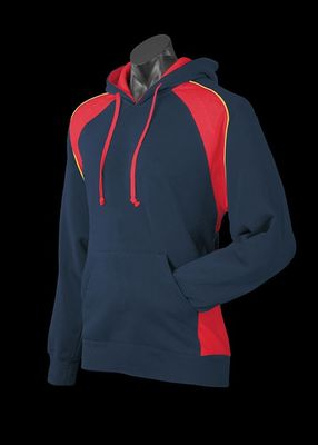 A blue Huxley Hoodie with red