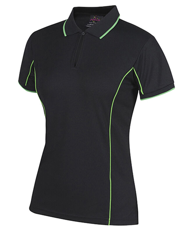 JBand39s Ladies SS Piping Polo
