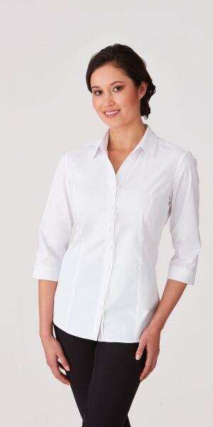 Ladies 34 Sleeve City Stretch Shirt