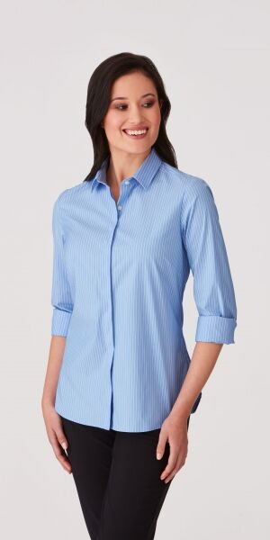 Ladies CC Stripe Long Sleeve Shirt