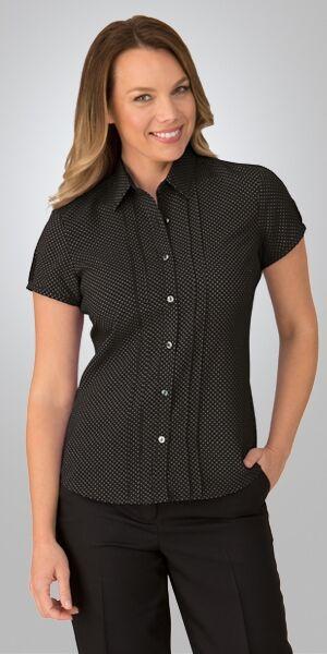 Ladies Short Sleeve City Stretch Spot Shirt