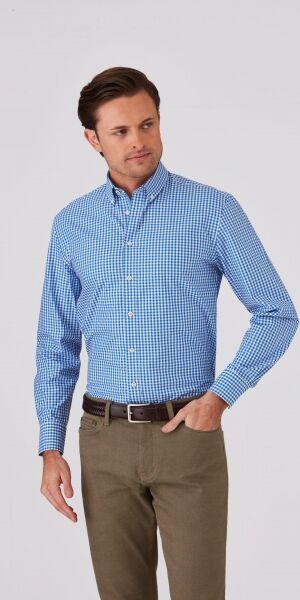 Mens Long Sleeve City Check Shirt