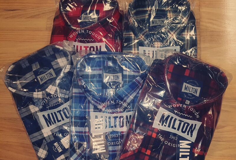 Milton Half Button Flanelette   5 pack
