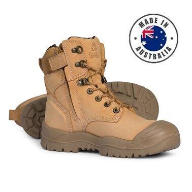 Mongrel High Leg Zipsider Safety Boot W Scuff Cap