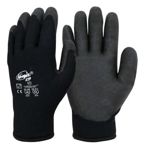 A pair of black Ninja Ice 6 Pack gloves