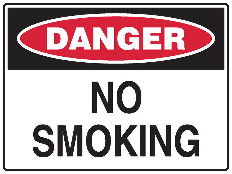 A No Smoking Sign danger sign