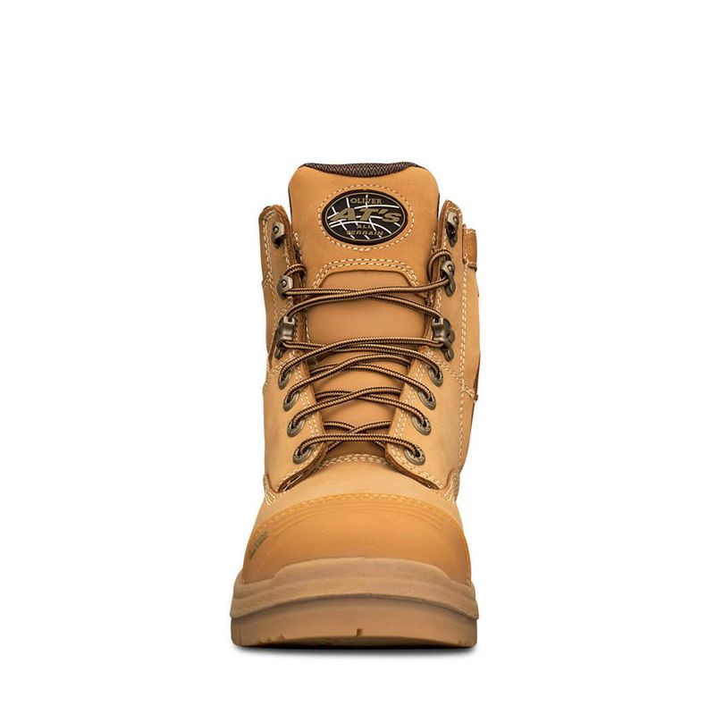 Oliver 150mm Wheat Zip Sided Safety Boot