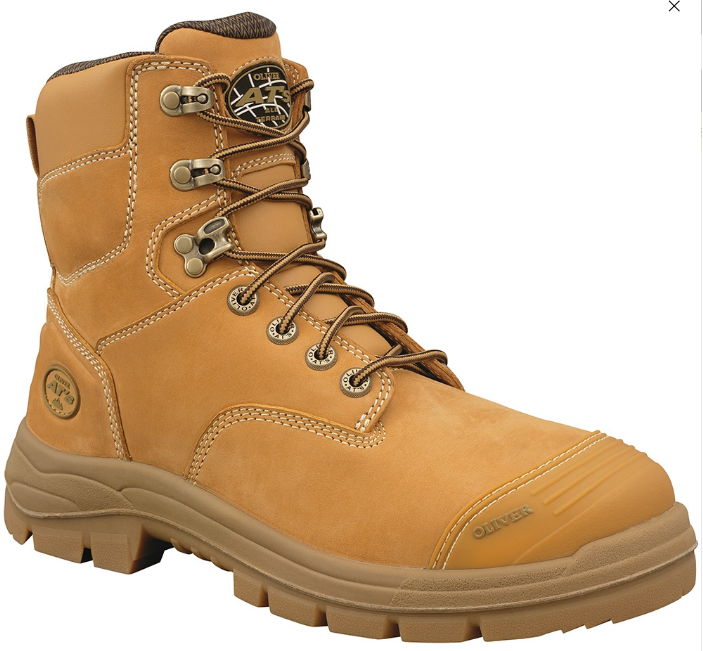 A single lace up Oliver 55 332 work boot