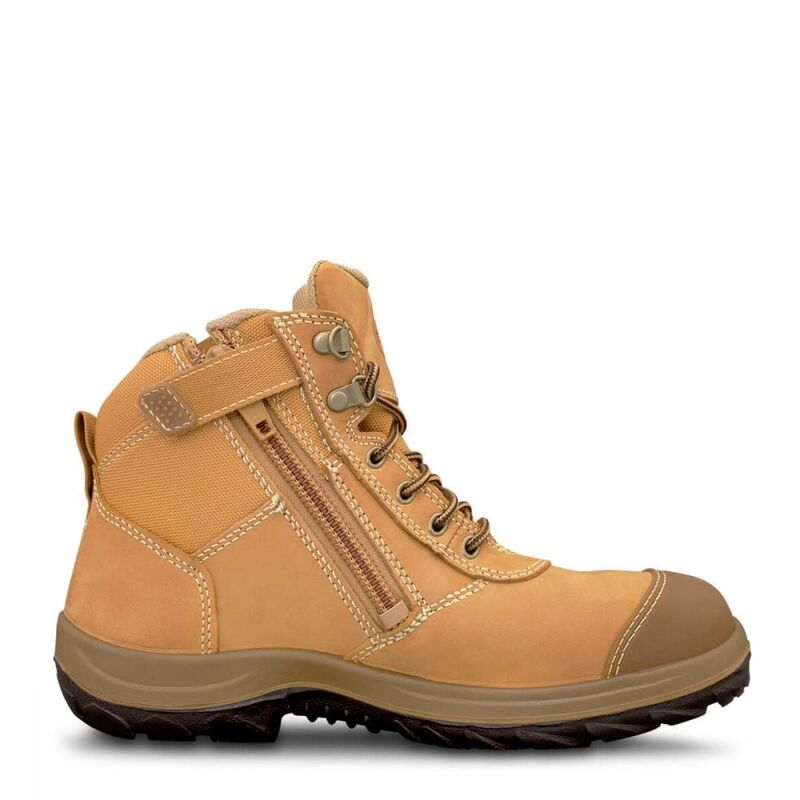 Oliver Wheat Zip Sided Ankle Safety Boot