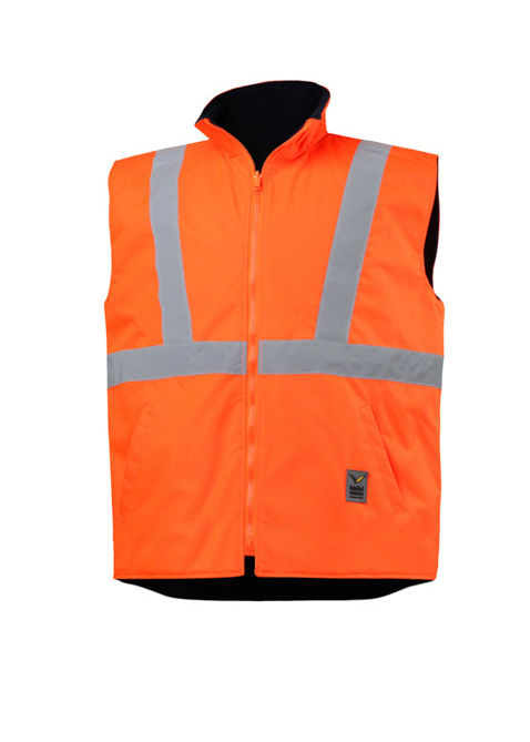 An Orange High Visibility Waterproof Vest