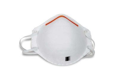 A single white P1 Respirator with a red link at the top