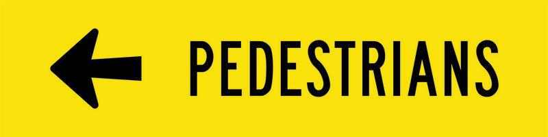 Pedestrians Left Sign