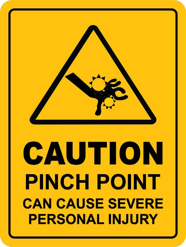 Pinch Point Sign