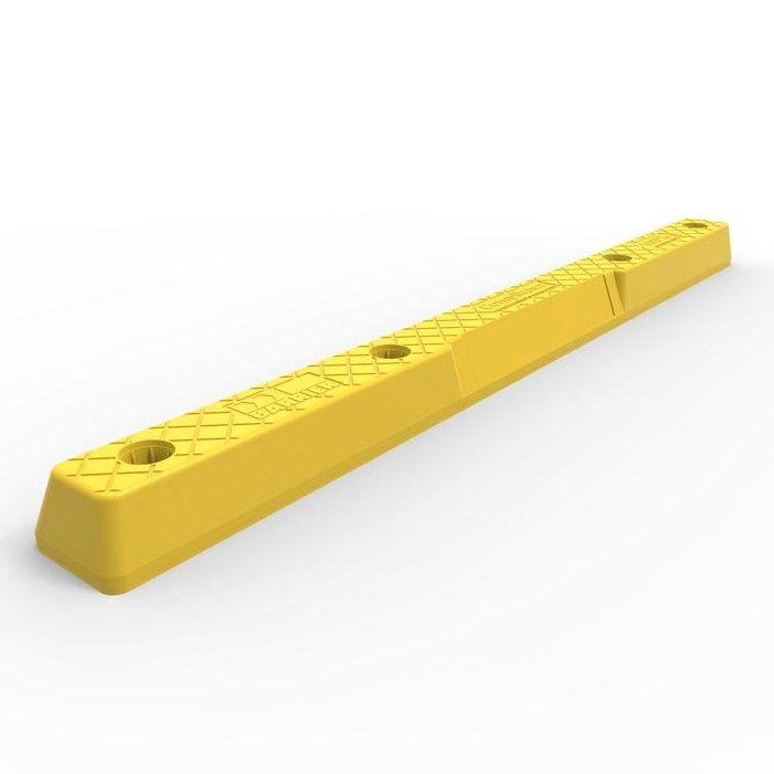 A yellow Plastic Wheel Stop