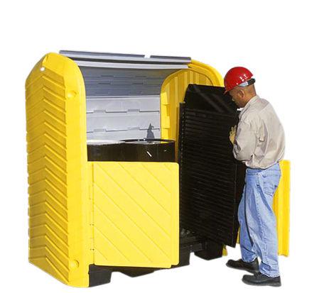Pratt Hard Top With 2 Drum Outdoor Spill Pallet