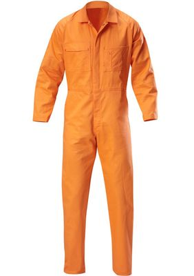 A pair of orange coloured Proban FR Coveralls