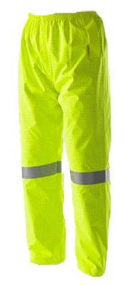 A pair of yellow high visibility Rainbird FR Pants