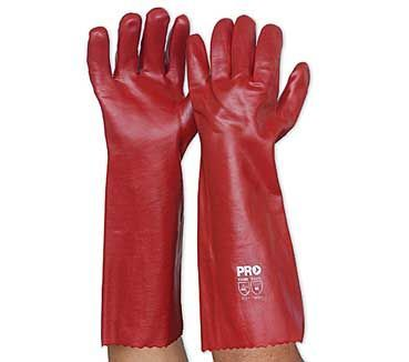 Red PVC Glove   Long