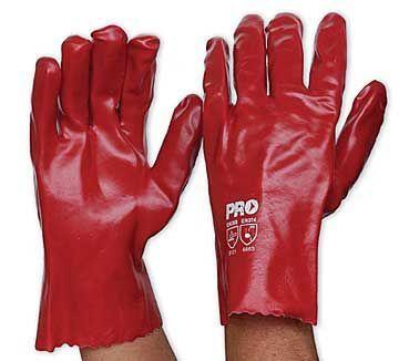 Red PVC Glove   Short