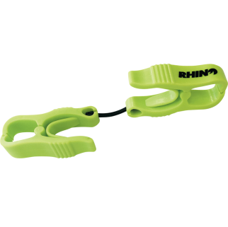 A set of green Rhino Glove Clips