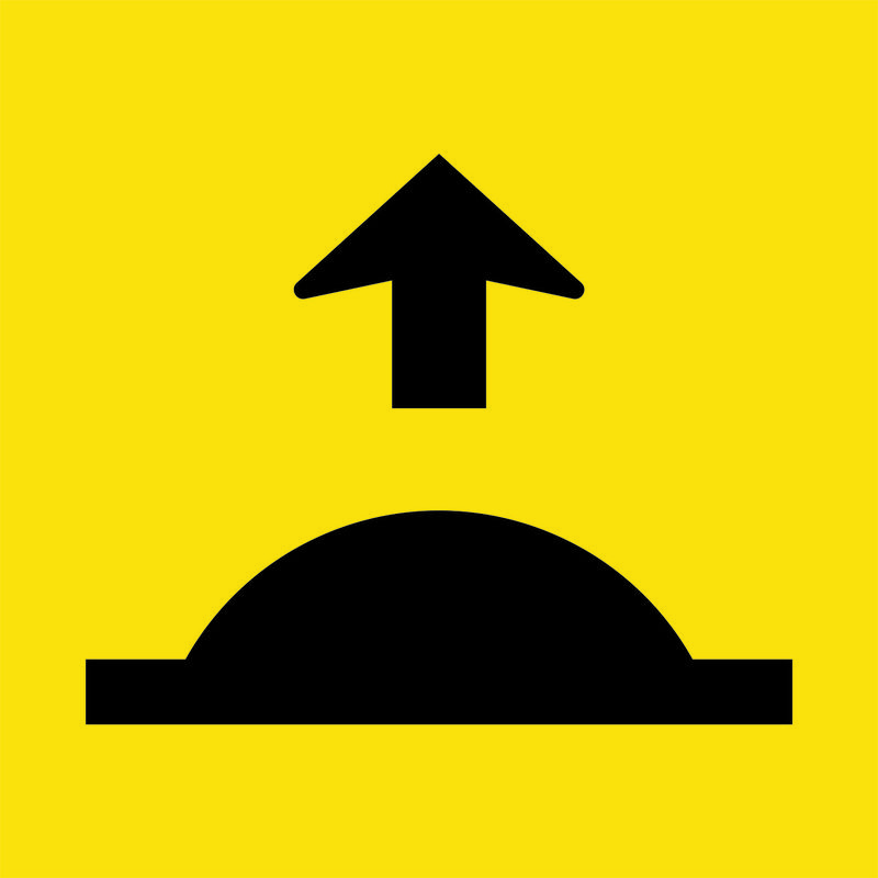 Road Hump Ahead Sign