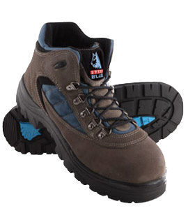 Pair of brown lace up Steel Blue work boots