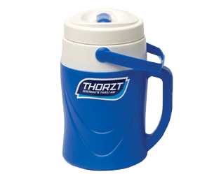 A blue THORZT 2L Cooler