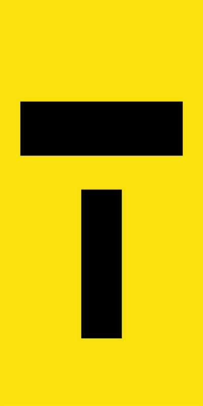 T Lane Closed Symbol Sign