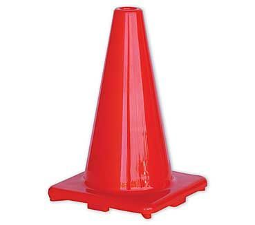 A single orange plain Traffic Cone 300mm