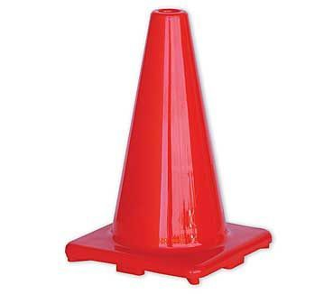 A single orange and plain Traffic Cone 450mm