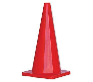 A single orange plain Traffic Cone 700mm