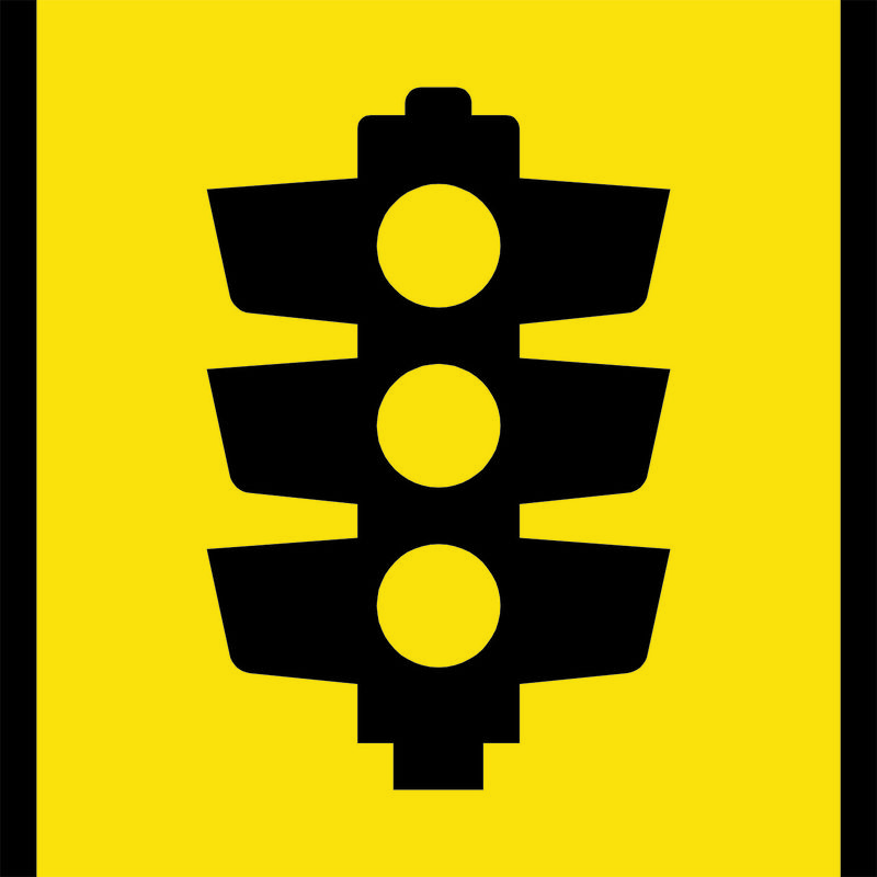 Traffic Light Symbol Sign