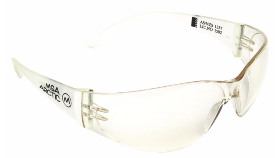 A pair of clear MSA Arctic Safety Glasses