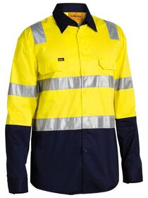 BISLEY HiVis Lightweight Shirt with Shoulder Tape